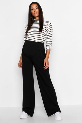 boohoo Maternity Over The Bump Wide Leg Trousers