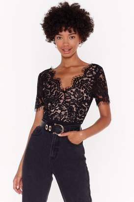 Nasty Gal Womens No Lace Like Home Bodysuit - black - XXS