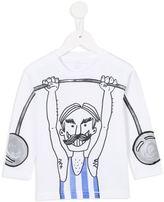 Stella McCartney weight lifter print T-shirt