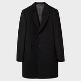 Paul Smith Men's Black Wool And Cashmere-Blend Peak-Lapel Epsom Coat