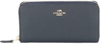 Coach Logo Plaque Wallet