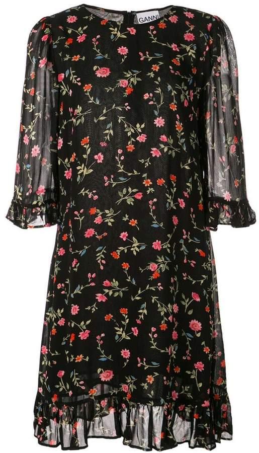 cff2a11b906a5e Ganni Black Floral Print Dresses - ShopStyle