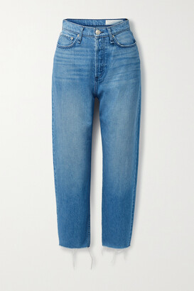 rag & bone - 90s Frayed High-rise Straight-leg Jeans - Blue