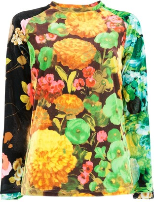 Richard Quinn Floral Fitted Top