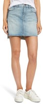 Women's Treasure & Bond Raw Hem Denim Miniskirt