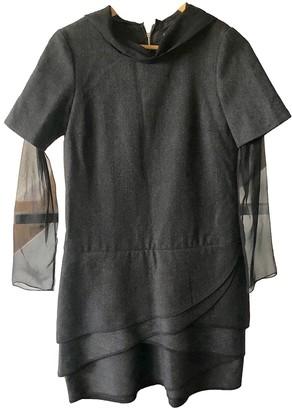 Thakoon Anthracite Wool Dresses