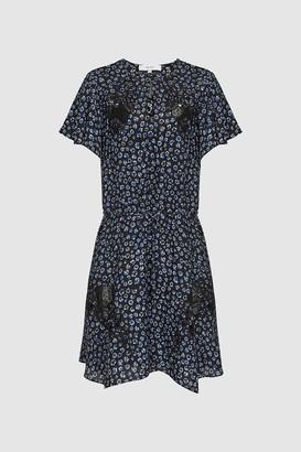 Reiss Amalia Ditsy Print Lace Dress