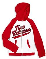 True Religion Boy's Old School Printed Cotton Hooded Jacket