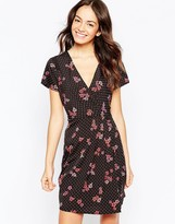 Yumi Dress in Spot and Floral Print