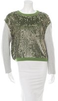 3.1 Phillip Lim Wool Sequined Sweater