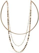 Glamrocks Jewelry Double Disco Choker Gold