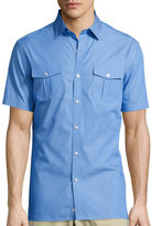 Claiborne Short-Sleeve Military Woven Shirt