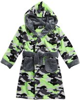 MINIKIDZ Boys Super Plush Bath Robe (Ages 2-6yrs) Rangers Camo Hooded Night Gown