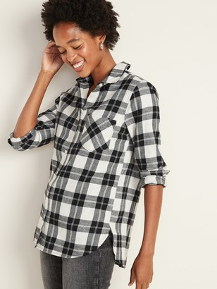 Old Navy Patterned Flannel Classic Shirt for Women