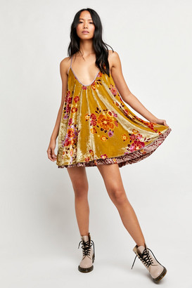 Free People Two-Faced Velvet Mini Dress