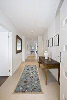 """Ottomanson Ottohome Collection Floral Garden Design Modern Hallway Runner Rug, 2'7"""" W x 9'10""""L, Sage Green"""