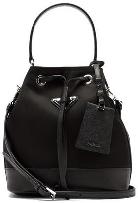 Prada Logo-plaque Nylon Bucket Bag - Black