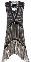 Peter Pilotto Metallic chiffon dress