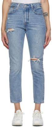 Levi's Levis Blue Distressed 501 Skinny Jeans