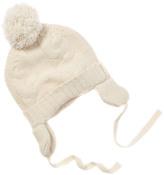 Baby CZ Kid's Creme Cashmere Pom Pom Hat