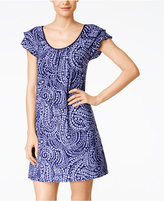 Alfani Flutter-Sleeve Short Nightgown, Only at Macy's