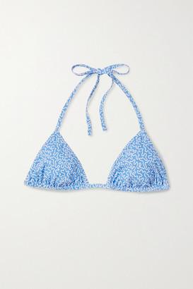 Fisch Dinzey Printed Triangle Bikini Top - Blue