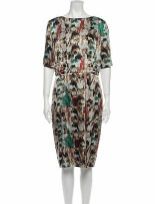 Etro Silk Midi Length Dress Grey