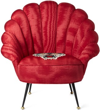 Gucci Moire armchair with embroidered tiger