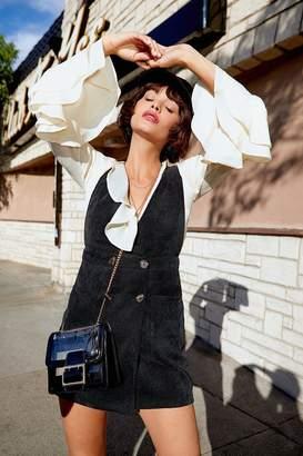Nasty Gal Womens Always Button My Mind Cord Dress - black - 12