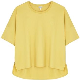 Loewe Yellow Logo-embroidered Cotton T-shirt
