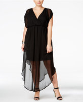 Love Squared Trendy Plus Size Chiffon Illusion Maxi Dress
