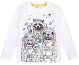 Petit Lem Boys 2-7 Animal Astronaut Tshirt