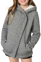O'Neill Tally Asymmetrical Zip Hoodie with Faux Shearling Lining (Little Girls & Big Girls)
