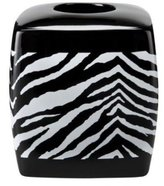 Creative Bath Products Zebra Safari Animal Print Tissue Box Cover