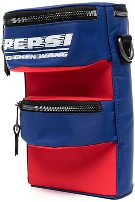 Feng Chen Wang Pepsi Logo Panelled Shoulder Bag