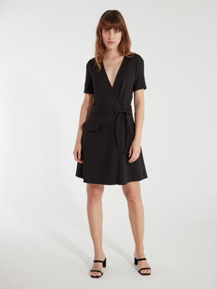 Joie Goldwin Short Sleeve Wrap Mini Dress