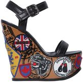 DSQUARED2 150mm Hackney Leather Wedge Sandals