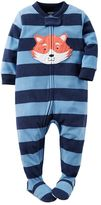 Carter's Baby Boy Striped Applique Footed Pajamas