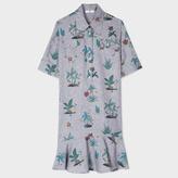 Paul Smith Women's Indigo 'Island' Print Cotton-Chambray Shirt-Dress