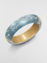 Alexis Bittar Lucite and Crystal Bangle Bracelet