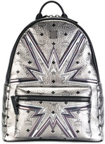 MCM high shine printed backpack - unisex - Leather - One Size