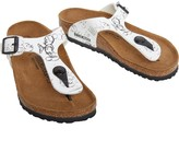 Birkenstock Kids Gizeh Birko-Flor Narrow Fit Sandals Mickey Heritage White