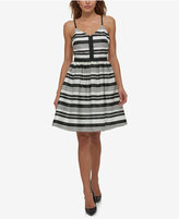 Jessica Simpson Striped Fit & Flare Dress