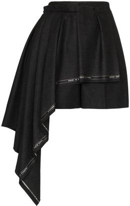 Alexander McQueen high waisted asymmetric front shorts