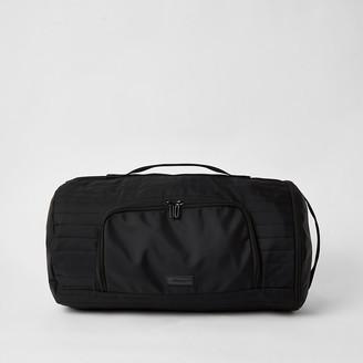 River Island MCMLX black padded holdall backpack