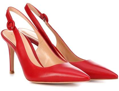 Gianvito Rossi Exclusive to mytheresa.com – Anna 85 leather slingback pumps