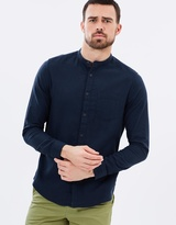 Long Sleeve Textured Grandad Shirt