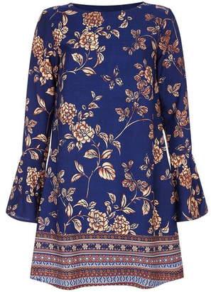 Yumi Floral Border Print Tunic Dress