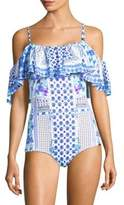 Camilla Rio With Love One-Piece Ruffle Bandeau Swimsuit
