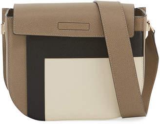 Valextra Colorblock Saffiano Twist Crossbody Bag